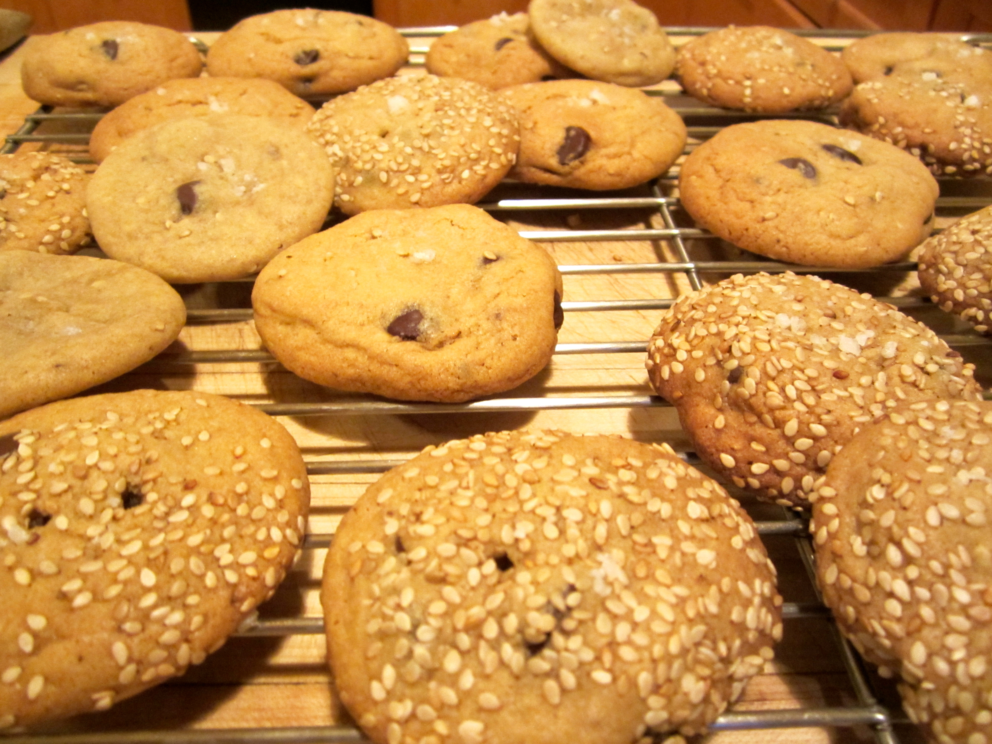 These salty sesame and dark chocolate chip cookies are so wrong they ...